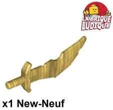Lego - 1x minifig arme weapon sabre sword épée or doré/pearl gold 60752 NEUF