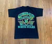 Minnesota North Stars Vintage 90's Single Stitch Graphic Print Shirt Mens M EUC