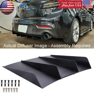 Rear Diffuser Bumper 4 Fins Spoiler Splitter Lip For Mazda 3 5 6 CX-3 CX5 CX-7
