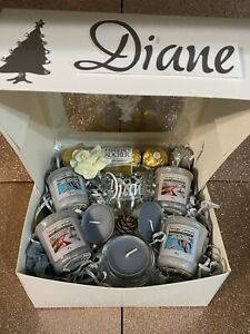 🎄 Personalised Christmas Yankee Candle Gift Box 🎁