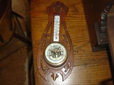 Antique German Wall Barometer & Thermometer