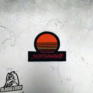 Patch Synthwave sun logo retrowave retromusic.