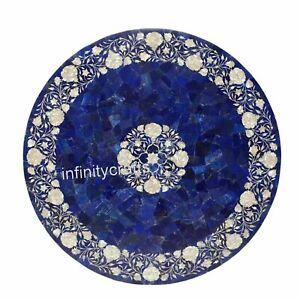 Marble Dining Table Top Inlay MOP Royal Look Meeting Table for Office Decor 36""