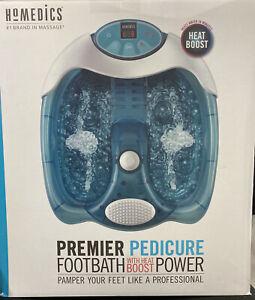 Homedics Premier Pedicure Footbath w/ Heat Boost Power ~ Open Box Never Used