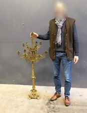 "Large 13-candles Antique Brass Church Candelabra, 19th century, 130 cm / 52"""