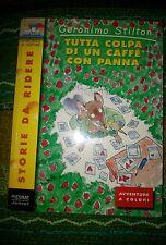 GERONIMO STILTON - TUTTA COLPA DI UN CAFFÈ CON PANNA prima pagina scarabocchiata