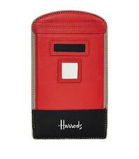 HARRODS RED LETTERBOX LONDON POSTBOX LEATHER SAMSUNG S4/S5/S6 MOBILE PHONE CASE
