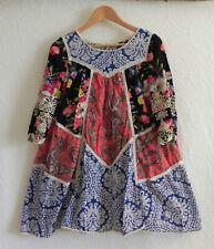 Vanessa Virginia Dress Baby-Doll Mini 3/4 Sleeve Paneled Cotton Size 6