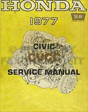 1977 Honda Civic CVCC Shop Manual 77 Original Repair Service Book OEM