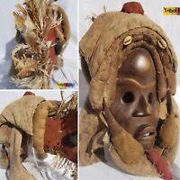 MAJESTIC Dan Feather Headdress Mask Figure Sculpture Statue Fine African Art