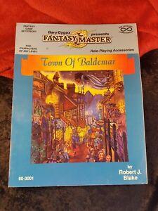 Gary Gygax Fantasy Master  - Town of Baldemar - 1987 - Robert Blake 60-3001