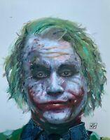 Joker Heath Ledger Dark Knight Portrait Comic Art Wall Print Poster realistic
