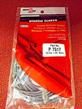 Window Screen Retainer Spline Cord, Repair Damaged Screens, Black, 25', 1/8""