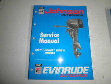 1990 johnson evinrude factory service manual colt junior thru 8  hp outboard