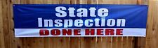 State Auto Inspection Done Here Banner Flag Sign Car Automotive Repair Shop 2x8