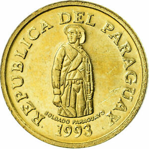 [#679245] Coin, Paraguay, Guarani, 1993, EF(40-45), Brass plated steel, KM:192