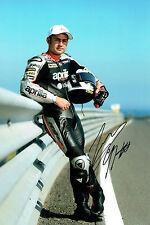 Leon HASLAM SIGNED Autograph Aprillia Rider 12x8 WSBK Portrait Photo AFTAL COA