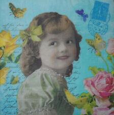 4 X Tovaglioli di Carta Decoupage CRAFT tavolo-Vintage persone PARTY -19