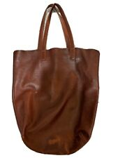 Baggu Basic Leather Tote Oxblood WELL WORN VINTAGE
