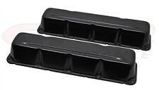 Valve Covers Stock Height Steel Black Plain AMC jeep 290-401 V8 Pair