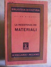 Minardi LA RESISTENZA DEI MATERIALI ed. Vallardi 1944