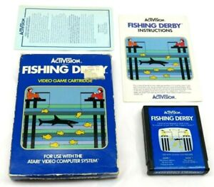 Fishing Derby (Atari 2600, 1980) By Activision (Box, Cartridge & Manual) NTSC