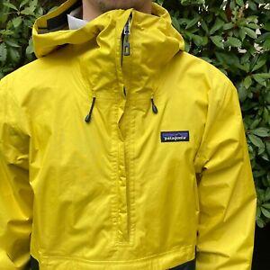 PATAGONIA TORRENTSHELL PULLOVER JACKET -  YELLOW Medium mens Waterproof raincoat