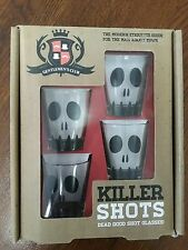 Killer Shots. 4 shot glasses.