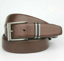 "Dark Brown Burton Bonded Leather Fibre Belt Size L 38""-42"""