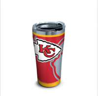NEW Tervis 20 oz Stainless Steel NFL® Kansas City Chiefs Rush Tumbler Quality
