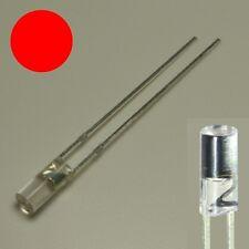 S715 - 20 Stück LED 3mm rot zylindrisch lang klar Zylinder LEDs red