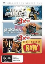 Team America-World Police/Jackass-The Movie/Eddie Murphy-Raw DVD, 3-Disc Set
