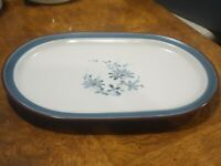 "Rare VTG Discontinued Noritake Stoneware 14"" Oval Serving Platter Pleasure 8344"