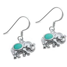Turquoise Elephant .925 Sterling Silver Earring
