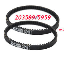 2PC Go Kart BELT Cogged Asymmetric for  Manco 5959 Comet 203589 Torque Converter