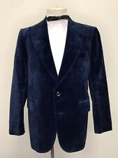 1960s 1970s Velvet Dinner Jacket Tuxedo Vintage Glam 42-44 Regular Blazer