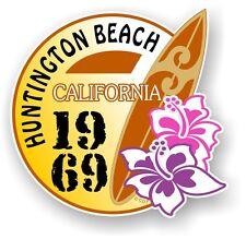 RETRO SURF BOARD SURF Huntington Beach CALIFORNIA 1969 AUTO CAMPER VAN Adesivo