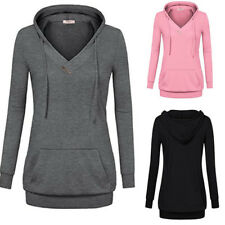 AU Women Long Sleeve Hoodie Pullover Sweatshirt Sweater Casual Hooded Tops Coats