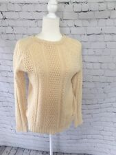 Anthropologie I Love H81 LA Sweater Knit Cream Fall Womens Cozy Chunky Large