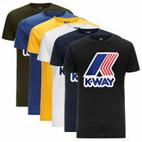 T-shirt K-way Pete Macro Logo girocollo maglia maniche corte 100% Cotone K009FF0