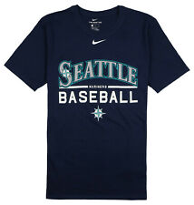 NIKE Seattle Mariners Baseball Practice T-Shirt sz S Small Navy Blue White MLB