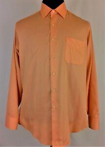 GEOFFREY BEENE WRINKLE FREE MEN'S Sz (L) QUALITY & COMFORTABLE NICE DRESS SHIRT
