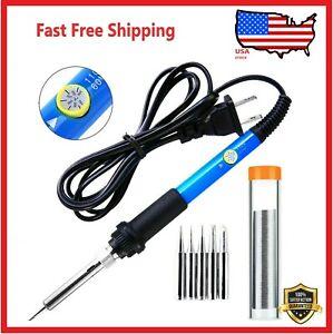Soldering Iron Electric Gun Adjustable Temperature 60W  Welding Solder Wire Kit