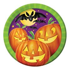 "Pumpkin Shine 8 Ct 9"" Dinner Lunch Plates Halloween Party Bats"