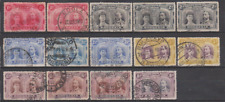 Rhodesia 1910 Double Heads Collection Used to 8d
