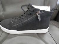 Kenneth Cole Lace Up/Zip Sneakers, Tyler Mid Zip, Black, Women's Size 9M