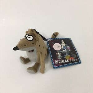 """Accessory Innovations Regular Show Rigby 5"""" Plush Character Soft Zip Pack Clip"""