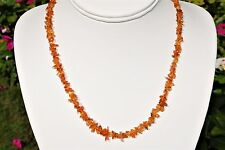 """CHARGED Madeira (Dark) Citrine Crystal Chip 18"""" Necklace Polished ENERGY REIKI"""