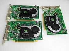 Nvidia Quadro 256MB Dual DVI PCI-E Video Card HP 455675-001 (Lot of 3) #TQ1040