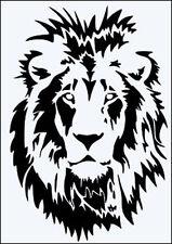 LION FACE FLEXIBLE 190m MYLAR RE USEABLE STENCIL - A5 - APPROX 17.5 x 12.5 cm